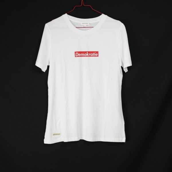 Demokratie Shirt (B&B Vol. 2) - White Tee L