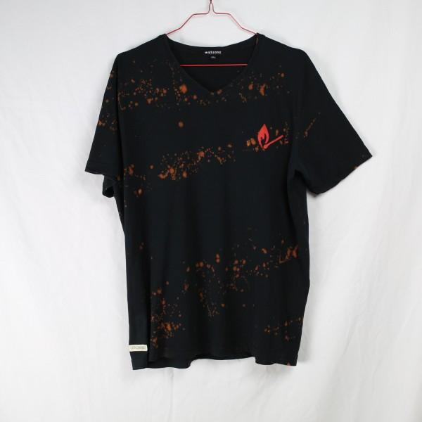 B&B Vol. 2 Shirt Burnt - Black V-Neck M
