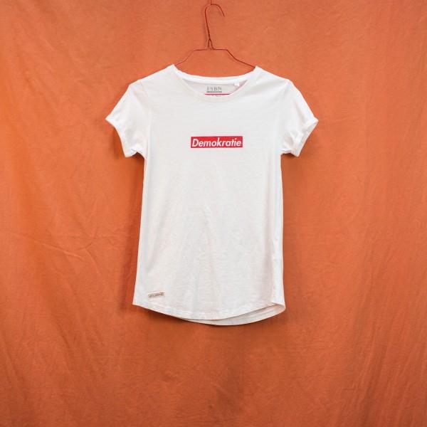 Demokratie Shirt - White Tee S